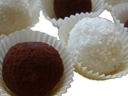 Praline al cocco, dolci al cucchiaio per disfagia