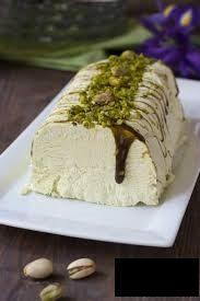 Semifreddo a pistacchio, dolci al cucchiaio per disfagia