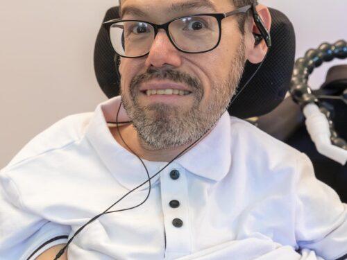 """""""Io condivido"""" Marco Rasconi presidente della associazione UILDM,  l'associazionismo è una opportunità  per avere grandi risultati. Disabilmente.it"""
